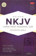 NKJV Large Print Personal Size Reference Bible Purple