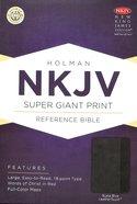 NKJV Super Giant Print Reference Bible, Slate Blue Leathertouch Premium Imitation Leather
