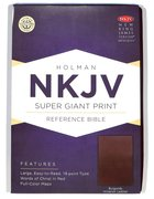 NKJV Super Giant Print Reference Bible Burgundy Imitation Leather