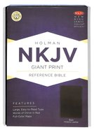 NKJV Giant Print Reference Bible Black Imitation Leather