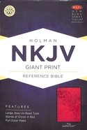 NKJV Giant Print Reference Bible Pink Premium Imitation Leather