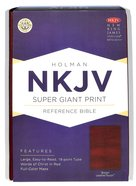 NKJV Super Giant Print Reference Bible Brown Premium Imitation Leather