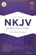 NKJV Super Giant Print Reference Bible Purple Premium Imitation Leather