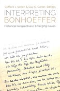 Interpreting Bonhoeffer Paperback
