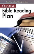 One Year Bible Reading Plan (Rose Guide Series)