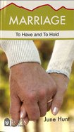 Marriage (Hope For The Heart Series) Paperback