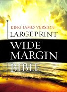 KJV Large Print Wide Margin Bible Brown/Taupe Flexi Back