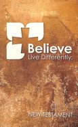 NIV Popular Paperback New Testament Believe Sand Paperback