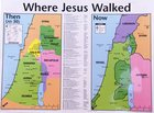 Wall Chart: Then and Now: Where Jesus Walked (Laminated) (Then And Now Series) Chart/card