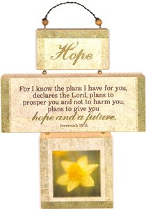 Cross Shaped Three Piece Mdf Wall Plaque: Hope, Jeremiah 29:11 (Crosswords)