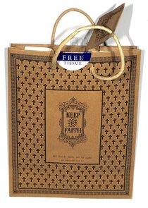 Gift Bag Medium: Keep the Faith (Incl Tissue Paper & Gift Tag)