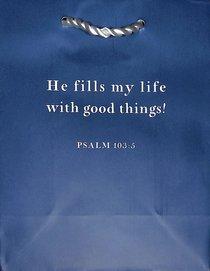 Value Gift Bag Small: Indigo (Psalm 103:5 Tlb)
