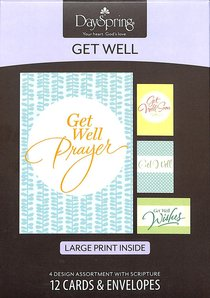 Boxed Cards Get Well: Large Print