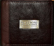 Mens Genuine Leather Wallet: Be Strong and Courageous