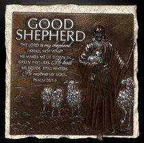 Moments of Faith Stone Sculpture Plaque: Good Shepherd, Psalm 23:1-3