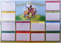 Wall Chart: Happy Birthday Kids (Remember Birthdays)