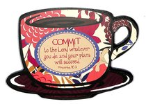 Mocha Plaques: Commit to the Lord