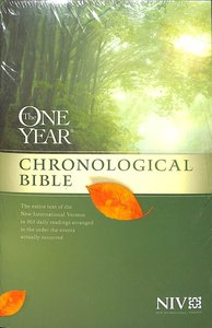 NIV One Year Chronological Bible (Black Letter Edition)
