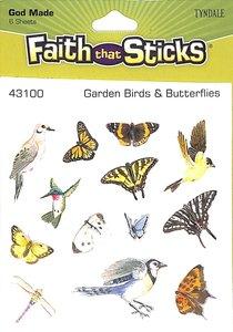 Garden Birds & Butterflies (6 Sheets, 78 Stickers) (Stickers Faith That Sticks Series)