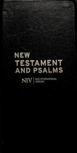 NIV Diary New Testament and Psalms Black