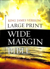 KJV Large Print Wide Margin Bible Brown/Taupe