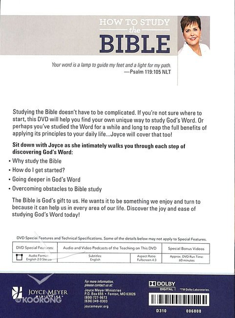 How to Study the Bible (1 Disc)