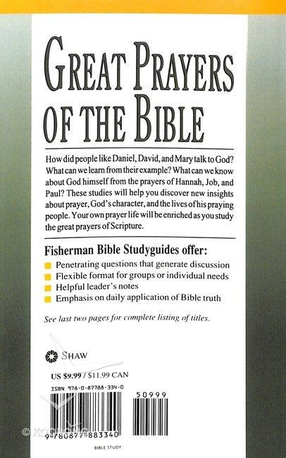 Great Prayers of Bible (Fisherman Bible Studyguide Series)