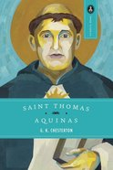 Saint Thomas Aquinas- the Dumb Ox Paperback