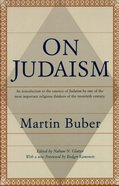 On Judaism Paperback