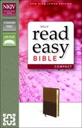 NKJV Readeasy Compact Bible Italian Duo-Tone Brown/Tan Imitation Leather