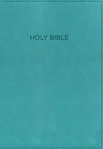 KJV Foundation Study Bible Aqua Indexed (Red Letter Edition)