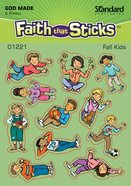 Fall Kids (6 Sheets) (Stickers Faith That Sticks Series) Stickers