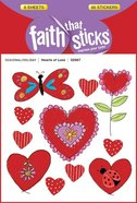 Hearts of Love (6 Sheets, 66 Stickers) (Stickers Faith That Sticks Series) Stickers