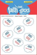 Mighty Thoughts (1 Sheet, 8 Puffy Stickers) (Stickers Faith That Sticks Series) Stickers