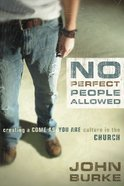 No Perfect People Allowed Paperback