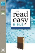 NIV Readeasy Bible Brown Italian Duo-Tone Large Print (Red Letter Edition) Imitation Leather