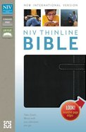 NIV Thinline Bible Black/White Duo-Tone (Red Letter Edition) Imitation Leather
