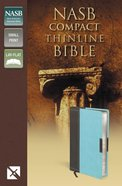 NASB Compact Thinline Bible Chocolate/Turquoise Duo-Tone (Red Letter Edition)