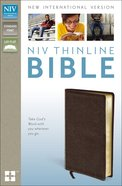 NIV Thinline Bible Brown (Red Letter Edition) Bonded Leather