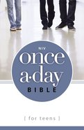 NIV Once-A-Day Bible For Teens (Black Letter Edition) Paperback