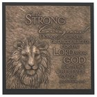 Lion Moments of Faith Sculpture Plaque
