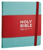 NIV Journalling Bible Mint Polka Dot Hardback