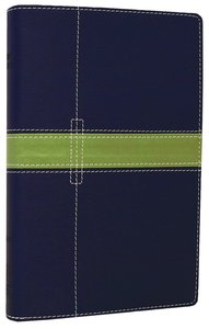 NIV Thinline Bible Midnight Blue/Moss Green Duo-Tone (Red Letter Edition)