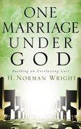 One Marriage Under God Hardback