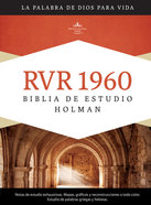 Rvr 1960 Biblia De Estudio Holman, Tapa Dura Con Indice Indexed Hardback