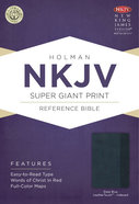 NKJV Super Giant Print Reference Indexed Bible Slate Blue Imitation Leather