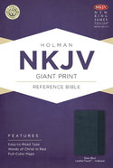 NKJV Giant Print Reference Indexed Bible Slate Blue Premium Imitation Leather