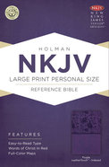 NKJV Large Print Personal Size Reference Indexed Bible Purple Premium Imitation Leather