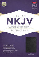 NKJV Super Giant Print Reference Bible, Black Bonded Leather Bonded Leather