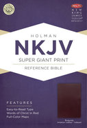 NKJV Super Giant Print Reference Indexed Bible Burgundy Imitation Leather